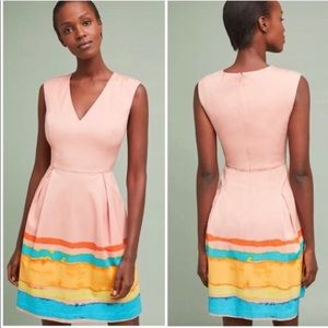 Tracy Reese x Anthropologie Painterly Pleat Dress